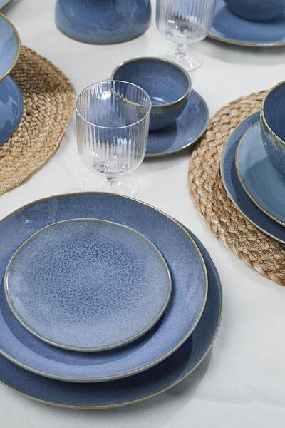 Frühstücksteller Porto, 20 cm, reaktive Glasur, blau - 9602022 - HEMA