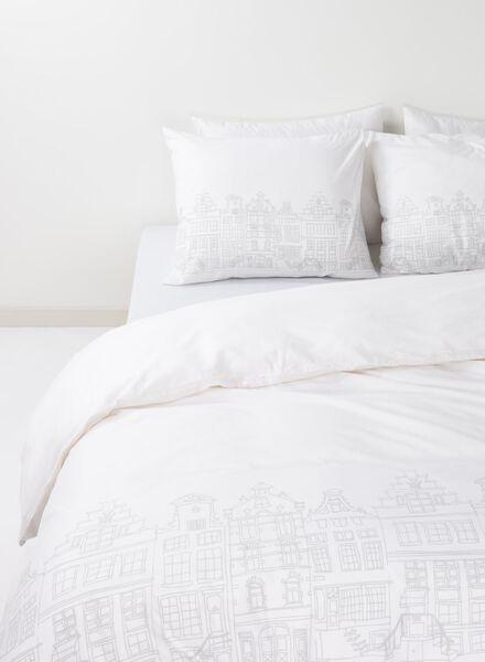 housse de couette-coton doux-200x200cm-blanc maison hollandaise - 5750029 - HEMA