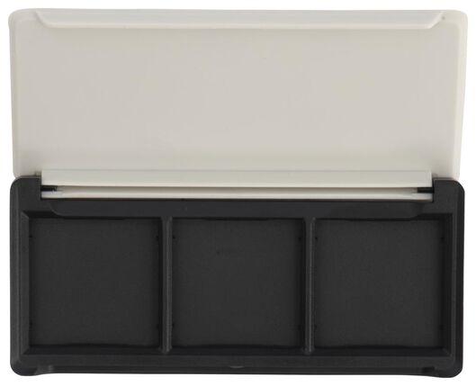 boîtier rechargeable pour ombres à paupières trio pack 3 compartiments gris clair - 11210310 - HEMA