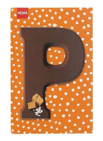 caramel sea salt milk chocolate letter P - 10039016 - hema