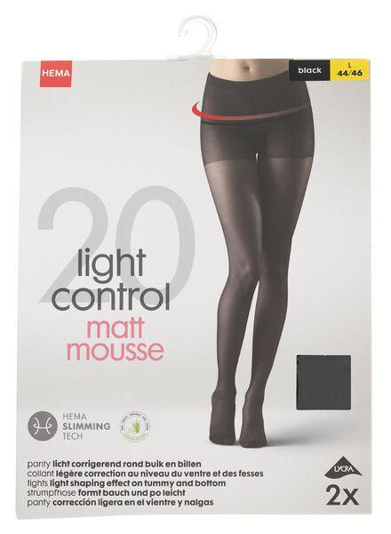 dfd258a1d 2-pack tights slightly body-shaping 20 denier black black - 1000000924 -  hema