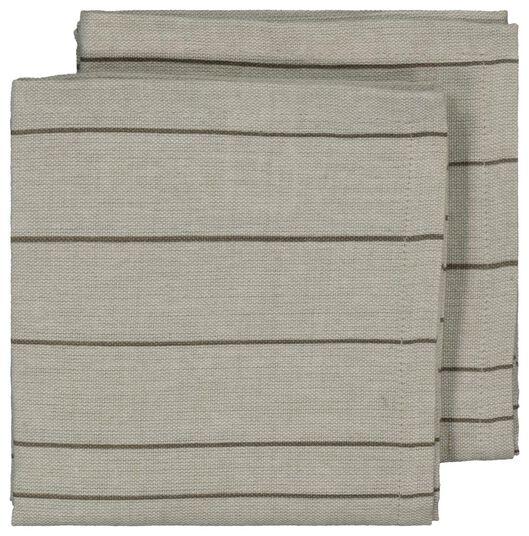 serviette - 47 x 47 - chambray cotton - stripes - 5390010 - hema
