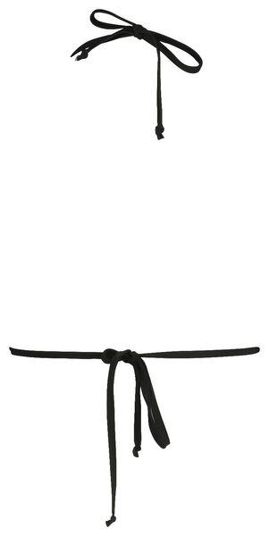 women's padded triangle bikini top black - 1000017937 - hema
