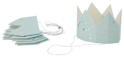 6couronnes en papier bleu clair - 14200537 - HEMA