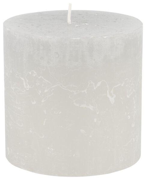 rustic candle - 10x10 - light grey - 13502440 - hema