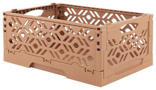 caisse pliante recyclée - 24 x 16 x 9.5 cm - corail - 39891053 - HEMA