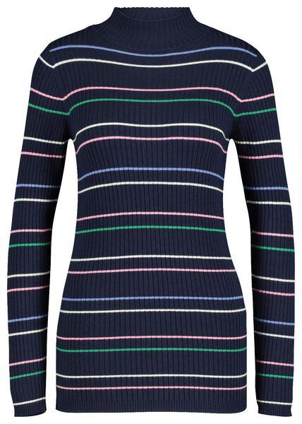 women's sweater rib dark blue dark blue - 1000017535 - hema