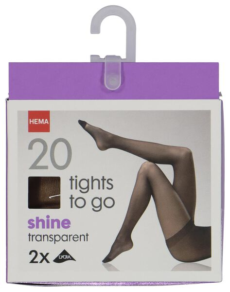2 pak panty shine to go naturel naturel - 1000006414 - HEMA