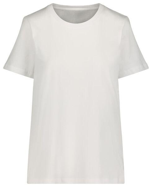 Damen-T-Shirt, Baumwolle weiß weiß - 1000021136 - HEMA