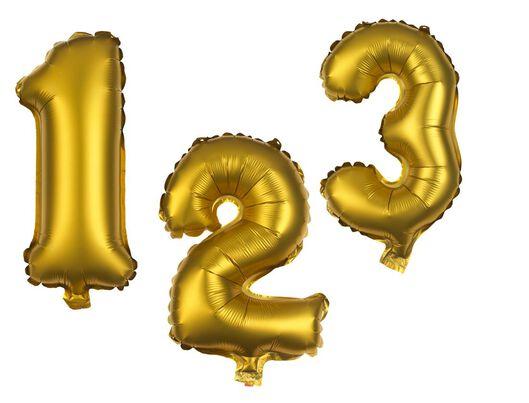 ballon alu chiffres 0-9 doré - 1000020730 - HEMA