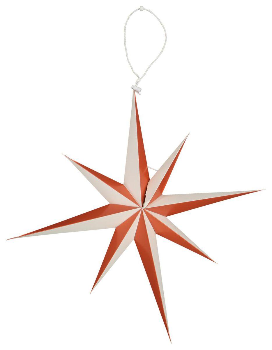 étoile de noël en papier Ø45cm terracotta - 25104344 - HEMA