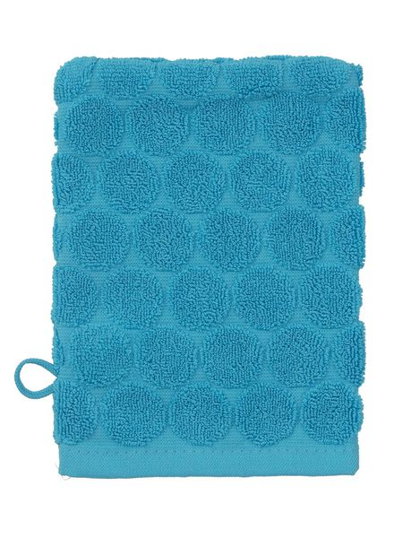 gant de toilette - qualité épaisse - aqua pois - 5200066 - HEMA