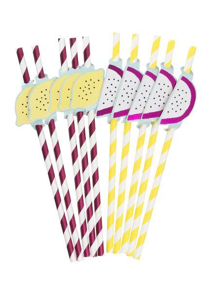 Image of HEMA 10-pack Paper Straws (multi)