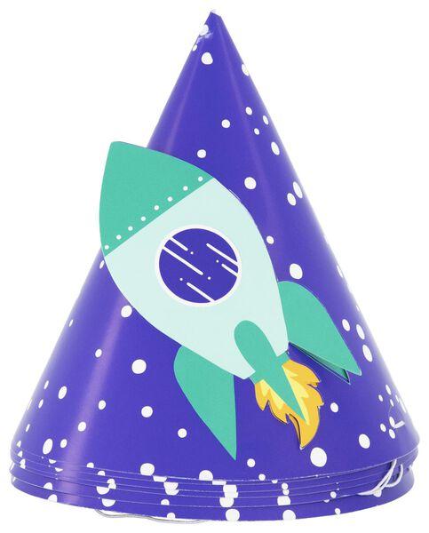 6chapeaux de fête en papier - espace - 14210152 - HEMA