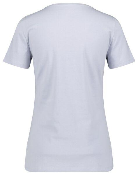 dames t-shirt lichtblauw lichtblauw - 1000023496 - HEMA