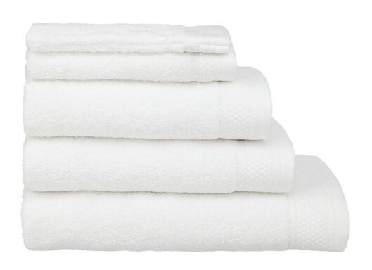 serviettes de bain - qualité hôtel blanc blanc - 1000015151 - HEMA