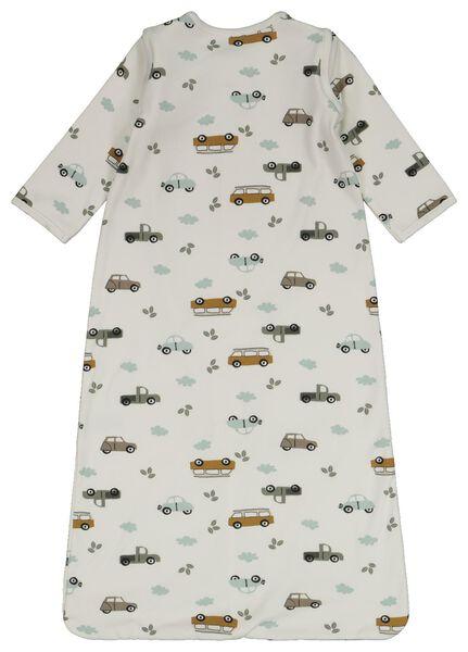 Baby-Schlafsack mit abnehmbaren Ärmeln, Auto eierschalenfarben 86/104 - 33326923 - HEMA