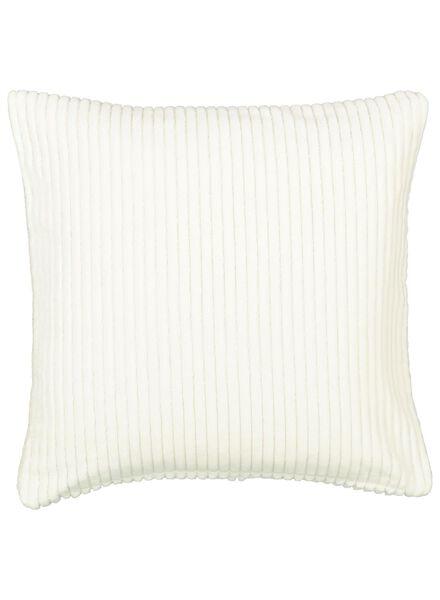 cushion cover - 50x50 - rib - natural - 7392022 - hema