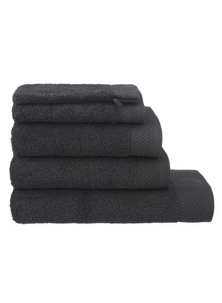 serviette de bain - 70x140 cm - hôtel - gris foncé gris foncé serviette 70 x 140 - 5217015 - HEMA