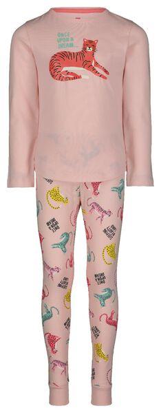 Kinder-Pyjama, Tiger hellrosa hellrosa - 1000022657 - HEMA