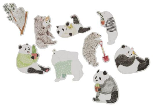 15 stickers XL panda - 14150077 - hema
