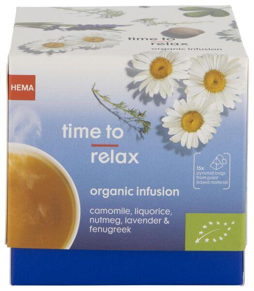 kruideninfusie biologisch time to relax - 15 stuks - 17190021 - HEMA