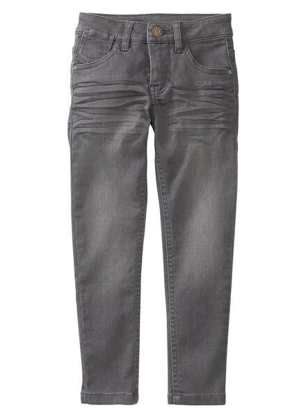 children's skinny jeans dark grey dark grey - 1000006228 - hema