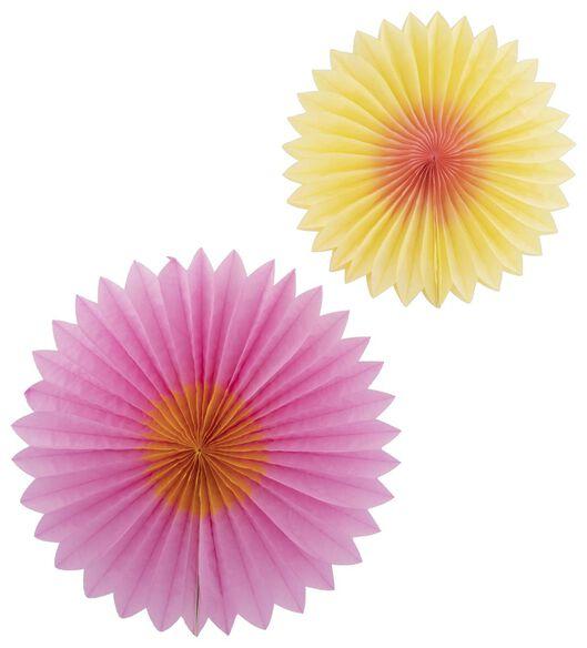 2er-Pack Papierfächer-Blumen - 14200426 - HEMA