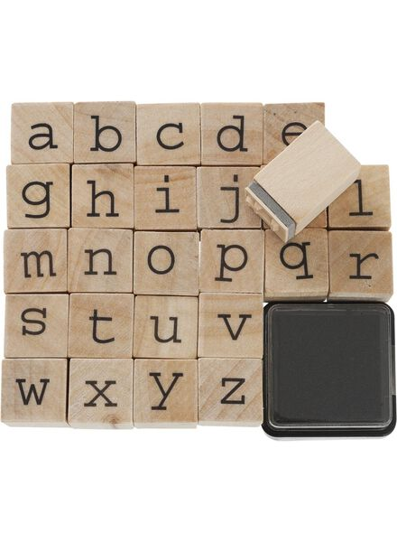 Stempelset Alphabet - 14860031 - HEMA