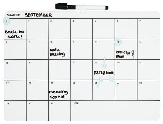 tableau blanc planning mensuel 28 x 39 - 14100615 - HEMA
