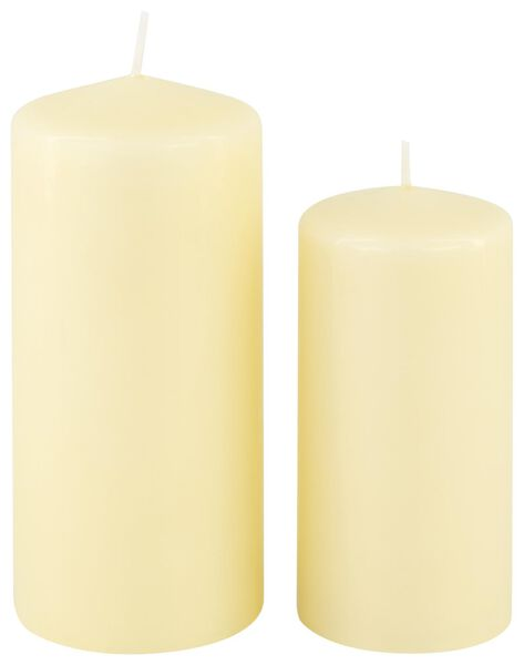 grosse bougie ivoire ivoire - 1000015637 - HEMA