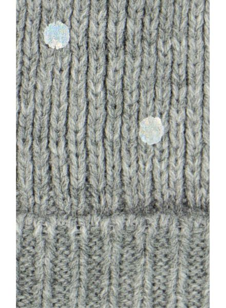 kindermuts grijsmelange grijsmelange - 1000014453 - HEMA