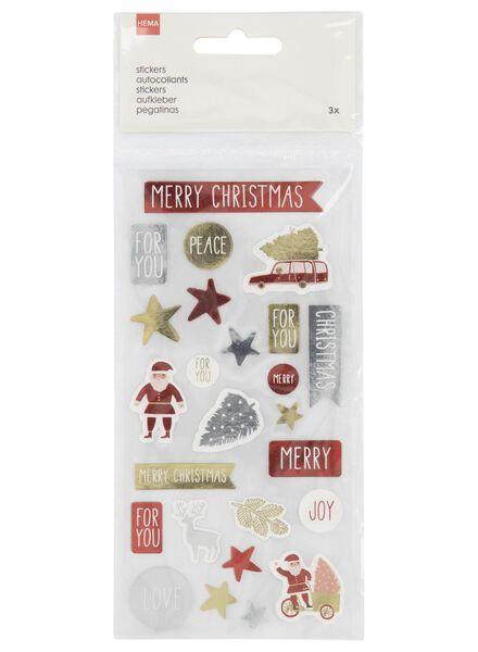 stickers Christmas - 3 sheets 16x8 - 25300262 - hema