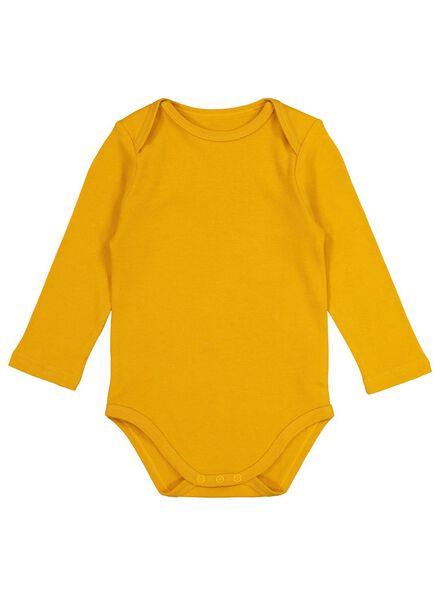 bodys katoen - 4 stuks geel geel - 1000017381 - HEMA