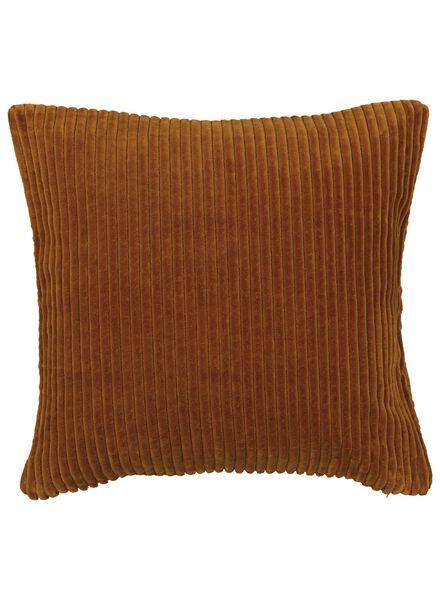 cushion cover ribbed 50x50 - brown - 7392017 - hema