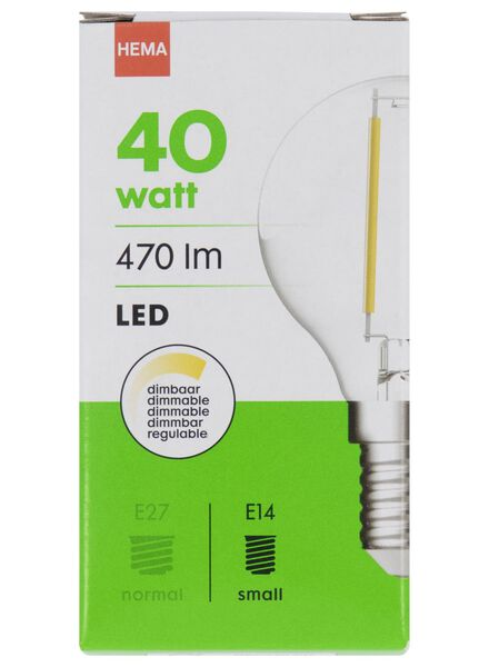 LED-Kugellampe, 40 W, 470 lm, klar - 20020029 - HEMA