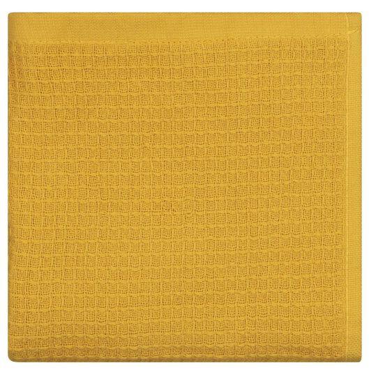 Küchenhandtuch, Waffelstruktur, Baumwolle, 50 x 50 cm, ockergelb - 5410081 - HEMA