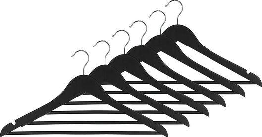 6er-Pack Holz-Kleiderbügel, schwarz - 39820500 - HEMA