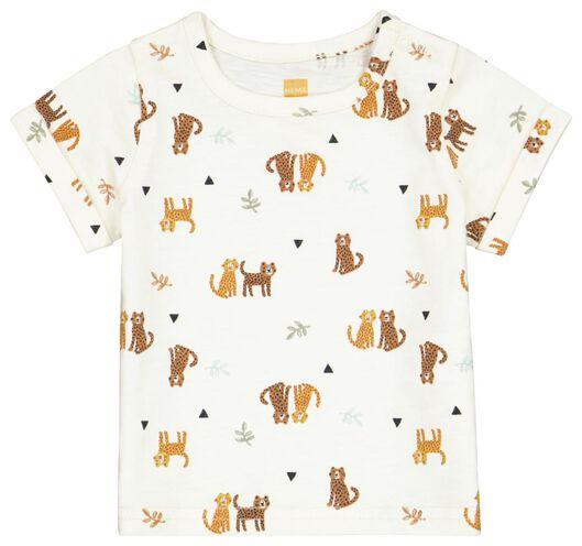 Newborn-T-Shirt, Leopardenmuster weiß 50 - 33417411 - HEMA