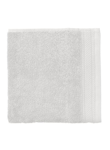 serviette de bain-50x100 cm-hôtel extra épais-gris clair uni gris clair serviette 50 x 100 - 5240198 - HEMA
