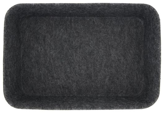 storage box 16.5x24.5x11 felt dark grey - 39821136 - hema