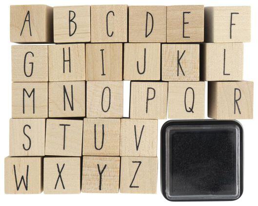 stempelset alfabet - 14802913 - HEMA
