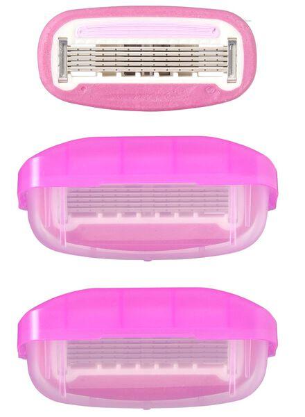3 recharges rasoir femme - 5 lames - 11312035 - HEMA