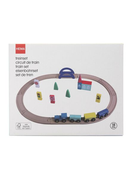 circuit de train en bois - 15122234 - HEMA