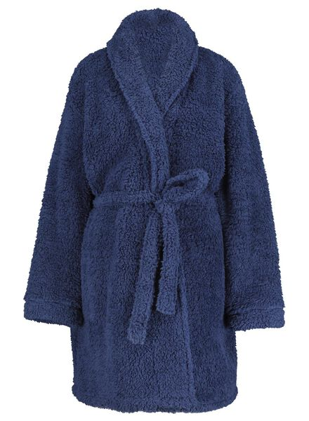 women's bathrobe dark blue dark blue - 1000017239 - hema