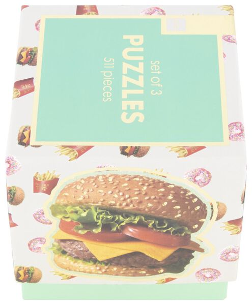 puzzel fastfood - 3 stuks - 61122962 - HEMA