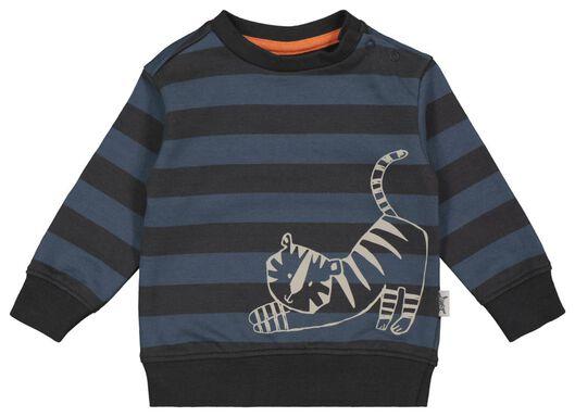 Babyoberteile - HEMA Baby Sweatshirt, Streifen, Tiger Blau - Onlineshop HEMA