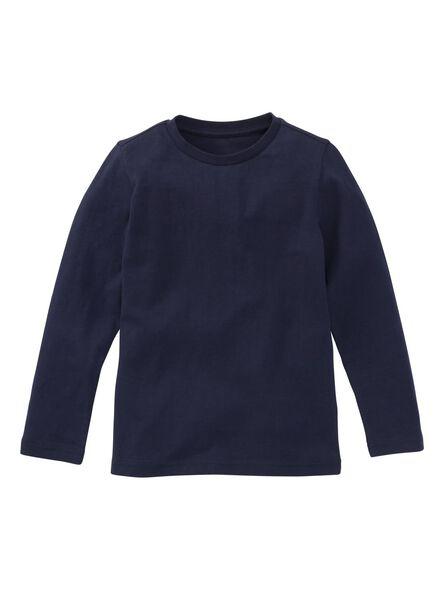 children´s T-shirt - organic cotton dark blue dark blue - 1000019377 - hema