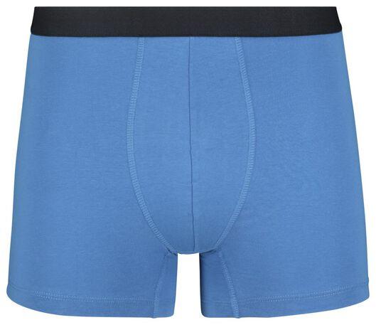 3 boxers homme modèle long coton stretch bleu foncé bleu foncé - 1000019049 - HEMA