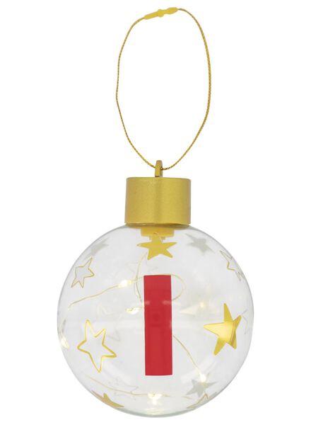 LED baubles glass Ø 8 cm A through Z gold gold - 1000017561 - hema